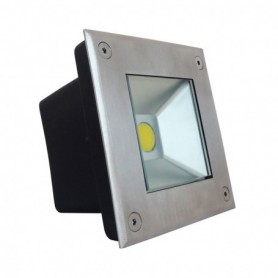 SPOT LED ENCASTRABLE SOL 5W 230V 4500°K IP67 CARRE INOX