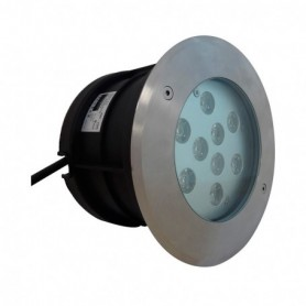 SPOT LED ENCASTRABLE SOL 10W 230V 4500°K IP67 ROND INOX