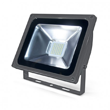 PROJECT LED 230 V 80 WATT 6000°K GRIS + DETECT IP65 PLAT
