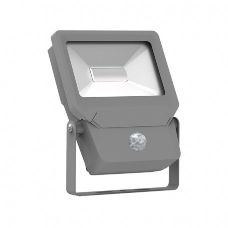 PROJECT LED 230 V 50 WATT 3000°K PLAT GRIS + DETECT IP65 SMD