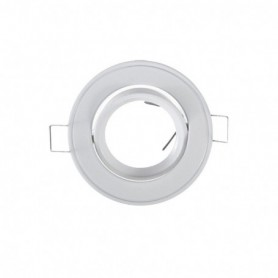 SUPPORT DE SPOT ROND BLANC 86mm 108A