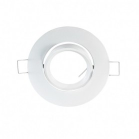 SUPPORT DE SPOT ROND BLANC 92mm 221