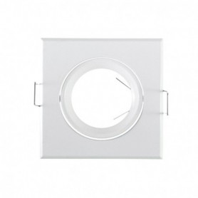 SUPPORT DE SPOT CARRE BLANC 84x84mm 912