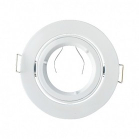 SUPPORT DE SPOT ROND BLANC 1/4 TOUR 93mm 860